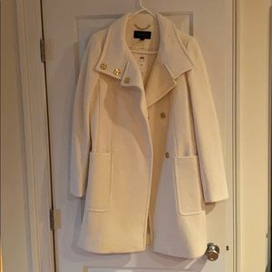 Cream/White Ann Taylor long jacket.